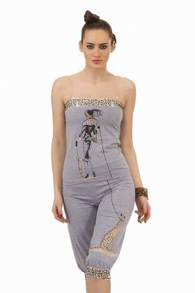 Lady Lingerie Gri LL-3380 Bayan Pijama