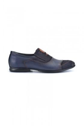 Pandew Lacivert PNDW-136 Hakiki Deri Erkek Ayakkabı