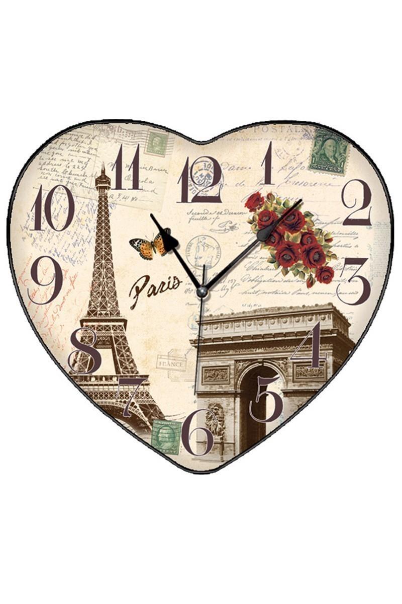 BS Krem BS-TG279-4 Kalpli Paris Dekoratif Duvar Saati