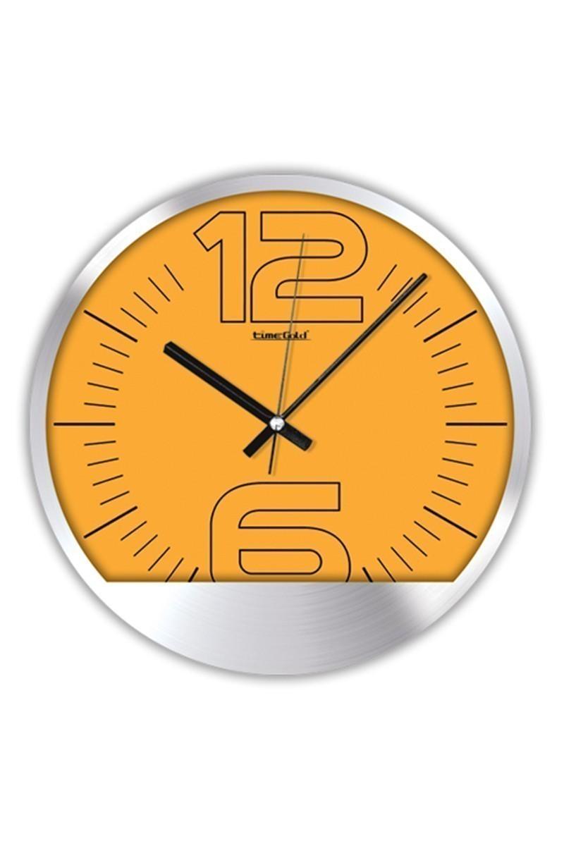 BS Sarı BS-TG250-1 Renkli Metal Duvar Saati