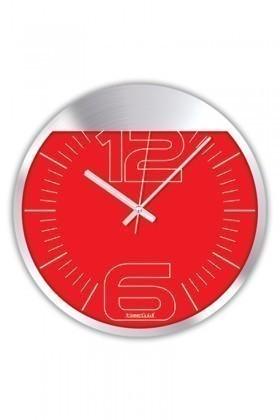 BS Kırmızı BS-TG250-5 Renkli Metal Duvar Saati
