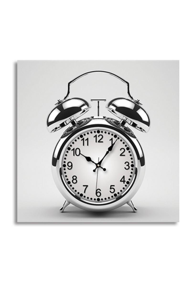 BS Beyaz BS-TG240T2-SAAT Kanvas Çalar Saat Görünümlü Duvar Saati