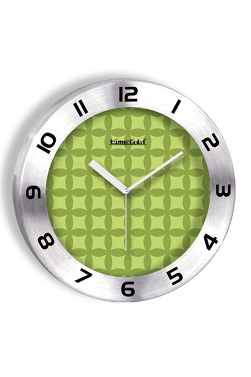 BS Yeşil BS-TG236-2 Renkli Metal Duvar Saati