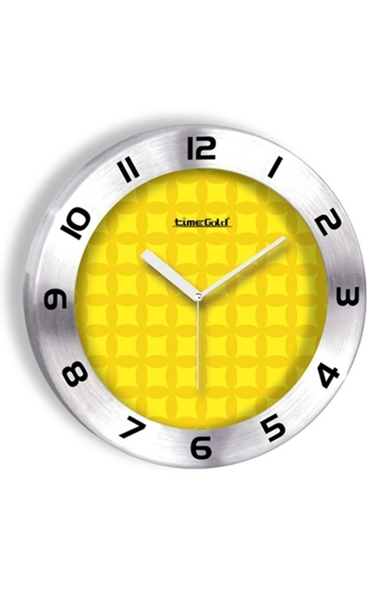 BS Sarı BS-TG236-1 Renkli Metal Duvar Saati