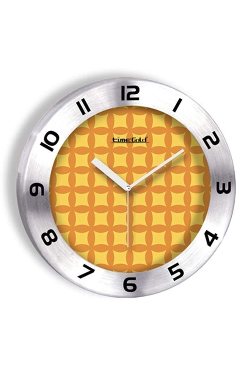 BS Sarı BS-TG236-3 Renkli Metal Duvar Saati