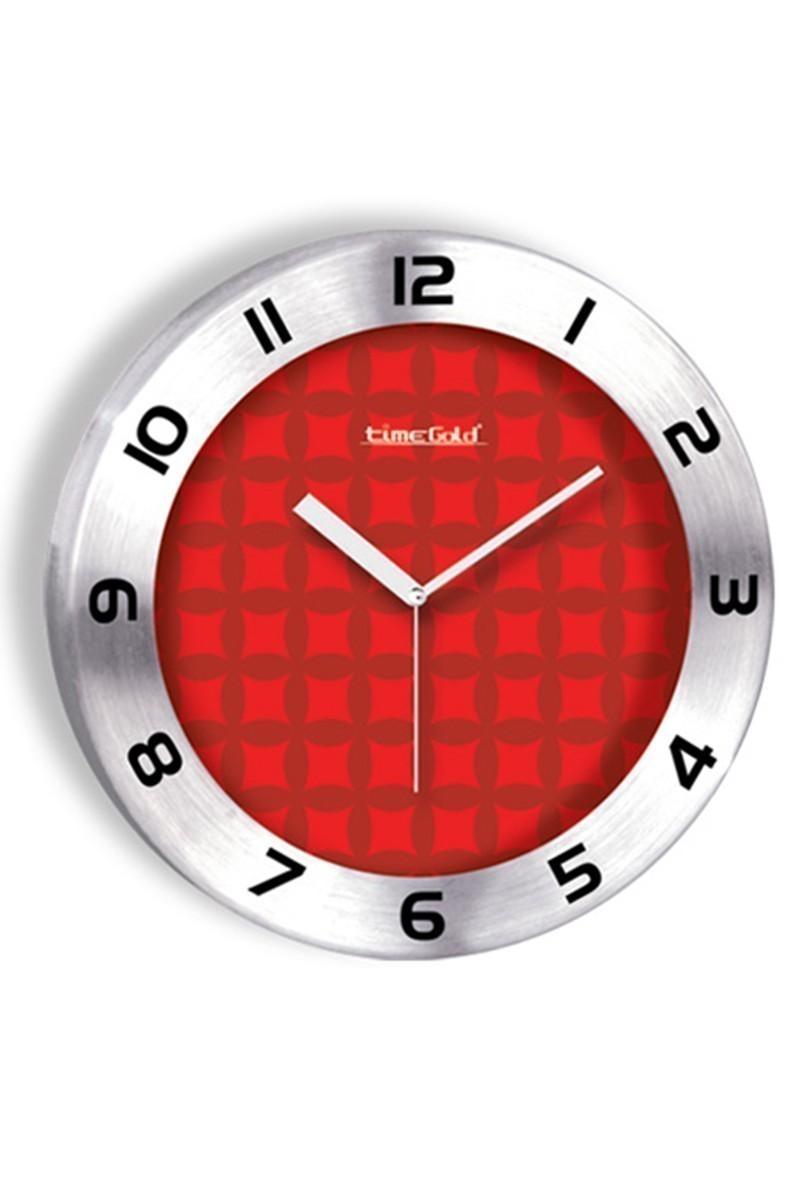 BS Kırmızı BS-TG236-4 Renkli Metal Duvar Saati