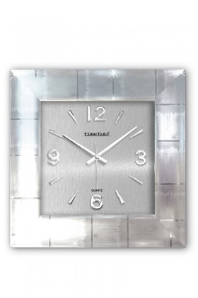 BS Gümüş Rengi BS-TG214 Lüx Platin Duvar Saati