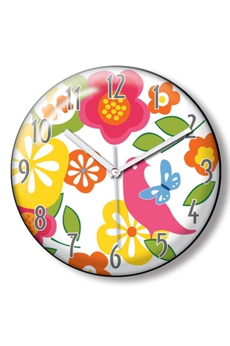 BS Beyaz BS-TG140C-RENKLI Dekoratif Renkli Model Duvar Saati
