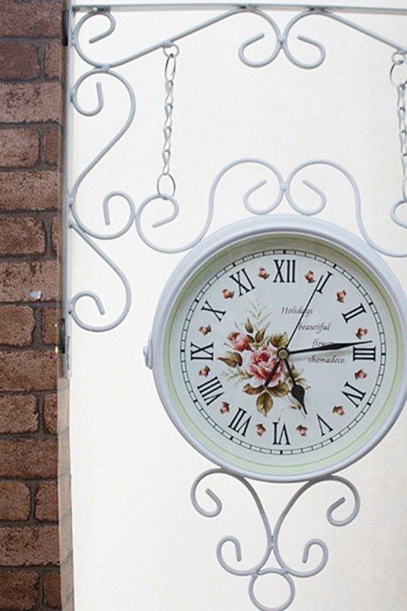 BS Beyaz BS-OK1186 Çift Taraflı Duvar Saati