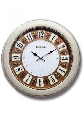 BS Beyaz BS-AK5108B Kervan Kabartmalı Duvar Saati