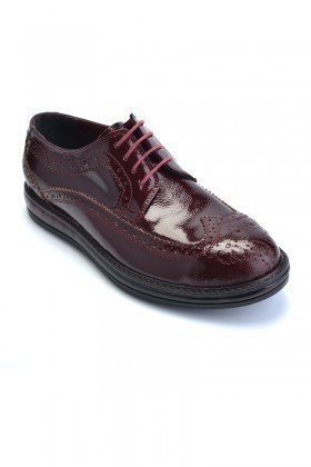 Pandew Bordo PNDW-8080-DESEN Hakiki Deri Erkek Ayakkabı