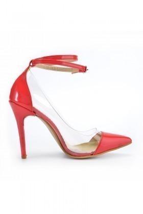 Moda Vindy Kırmızı MVD-STLT-016 Stiletto Topuklu Bayan Ayakkabı