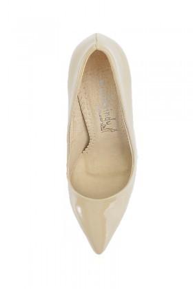 Moda Vindy Bej MVD-STLT-014 Stiletto Topuklu Bayan Ayakkabı