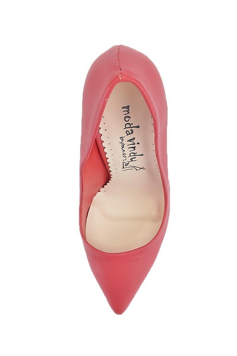 Moda Vindy Kırmızı MVD-STLT-013 Stiletto Topuklu Bayan Ayakkabı