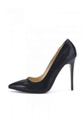 Moda Vindy Siyah MVD-STLT-010 Stiletto Topuklu Bayan Ayakkabı