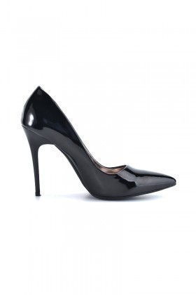 Moda Vindy Siyah MVD-STLT-002 Stiletto Topuklu Bayan Ayakkabı