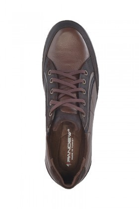 Pandew Kahverengi-Siyah PNDW-4031 Hakiki Deri Erkek Ayakkabı