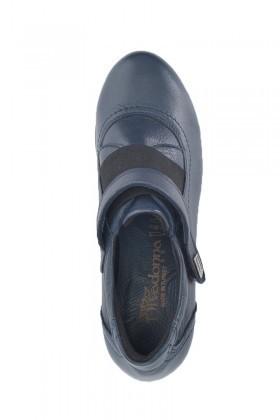 Divadonna Lacivert DVNN-7795 Hakiki Deri Bayan Ayakkabı
