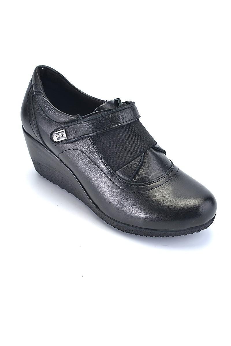 Divadonna Siyah DVNN-7795 Hakiki Deri Bayan Ayakkabı