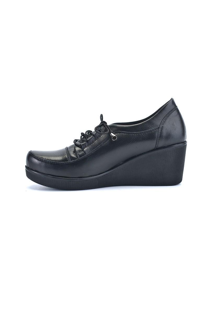 Divadonna Siyah DVNN-6680 Hakiki Deri Bayan Ayakkabı