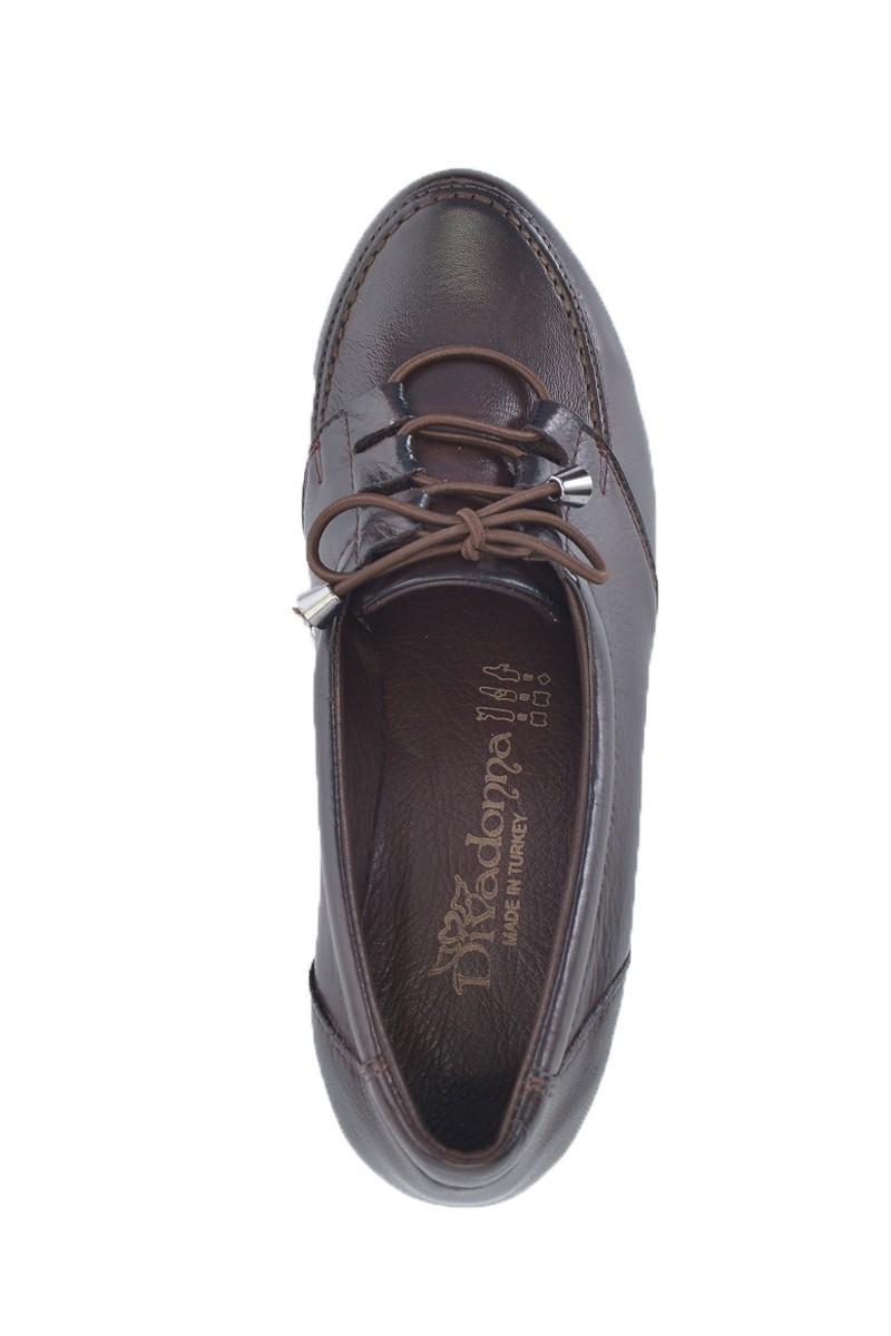 Divadonna Kahverengi DVNN-5512 Hakiki Deri Bayan Ayakkabı