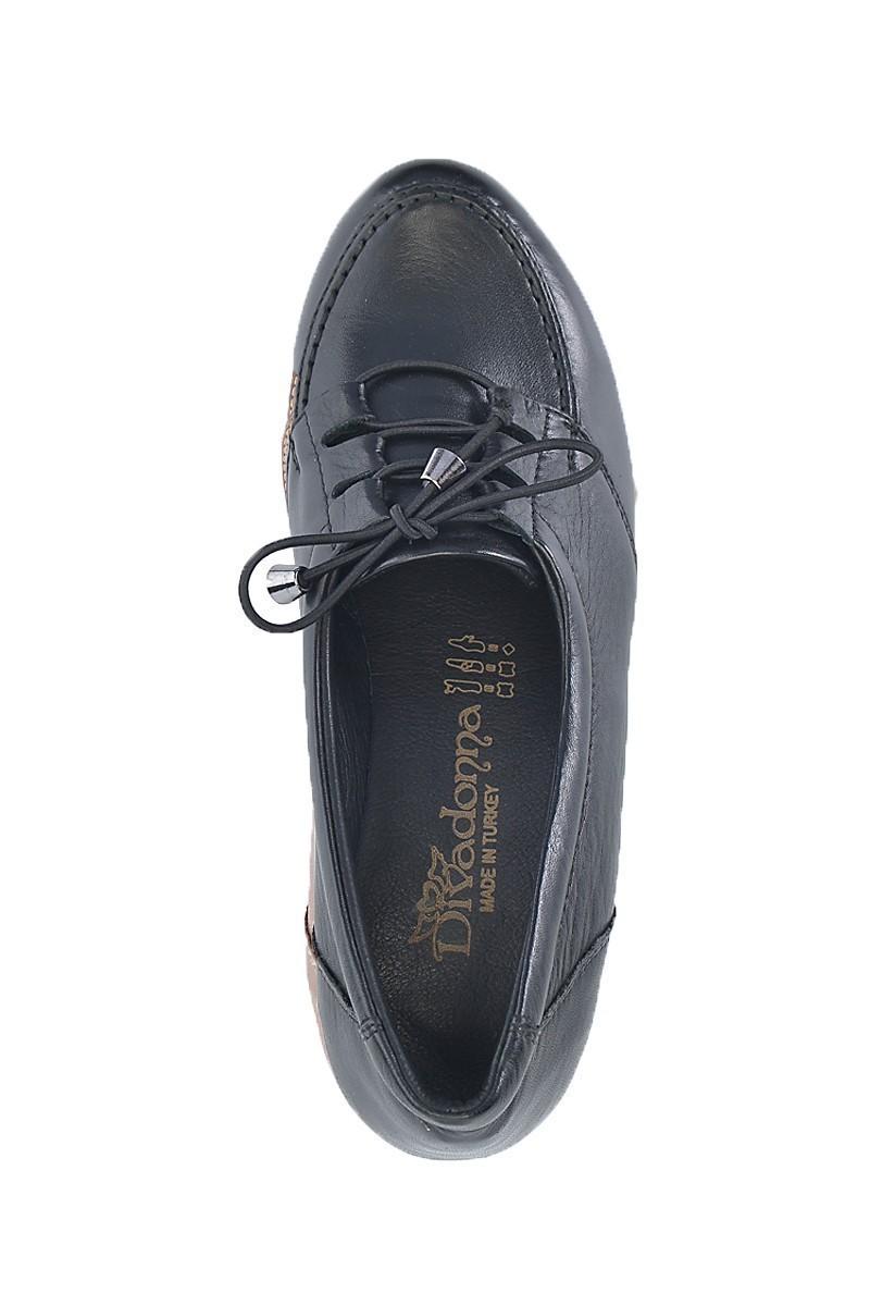 Divadonna Siyah DVNN-5512 Hakiki Deri Bayan Ayakkabı