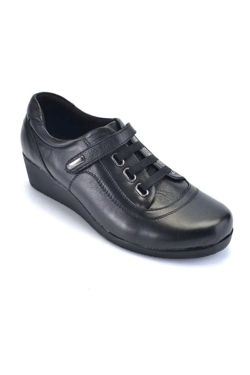 Divadonna Siyah DVNN-1162 Hakiki Deri Bayan Ayakkabı