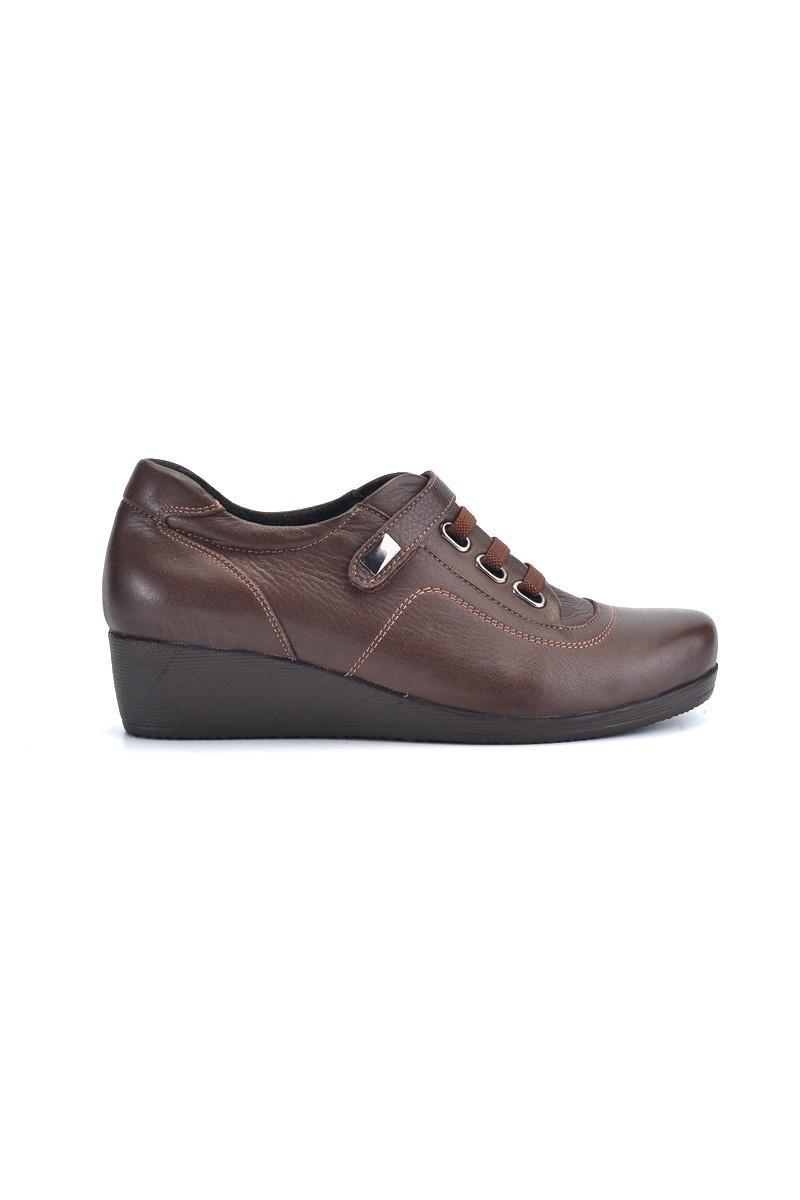 Divadonna Kahverengi DVNN-1162 Hakiki Deri Bayan Ayakkabı