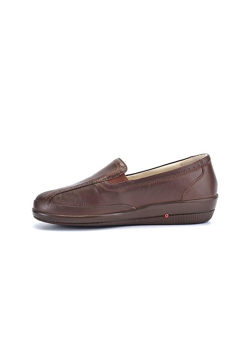 Divadonna Kahverengi DVNN-310 Hakiki Deri Bayan Ayakkabı