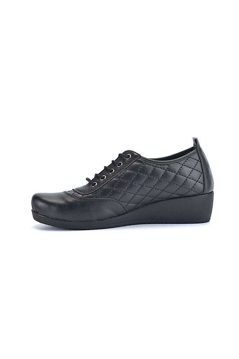 Divadonna Siyah DVNN-461 Hakiki Deri Bayan Ayakkabı