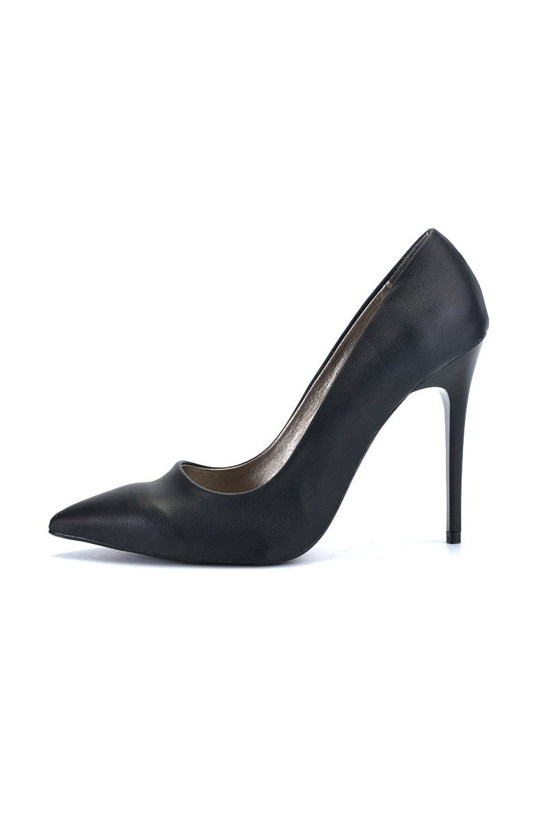 Moda Vindy Siyah MVD-STLT-003 Stiletto Topuklu Bayan Ayakkabı