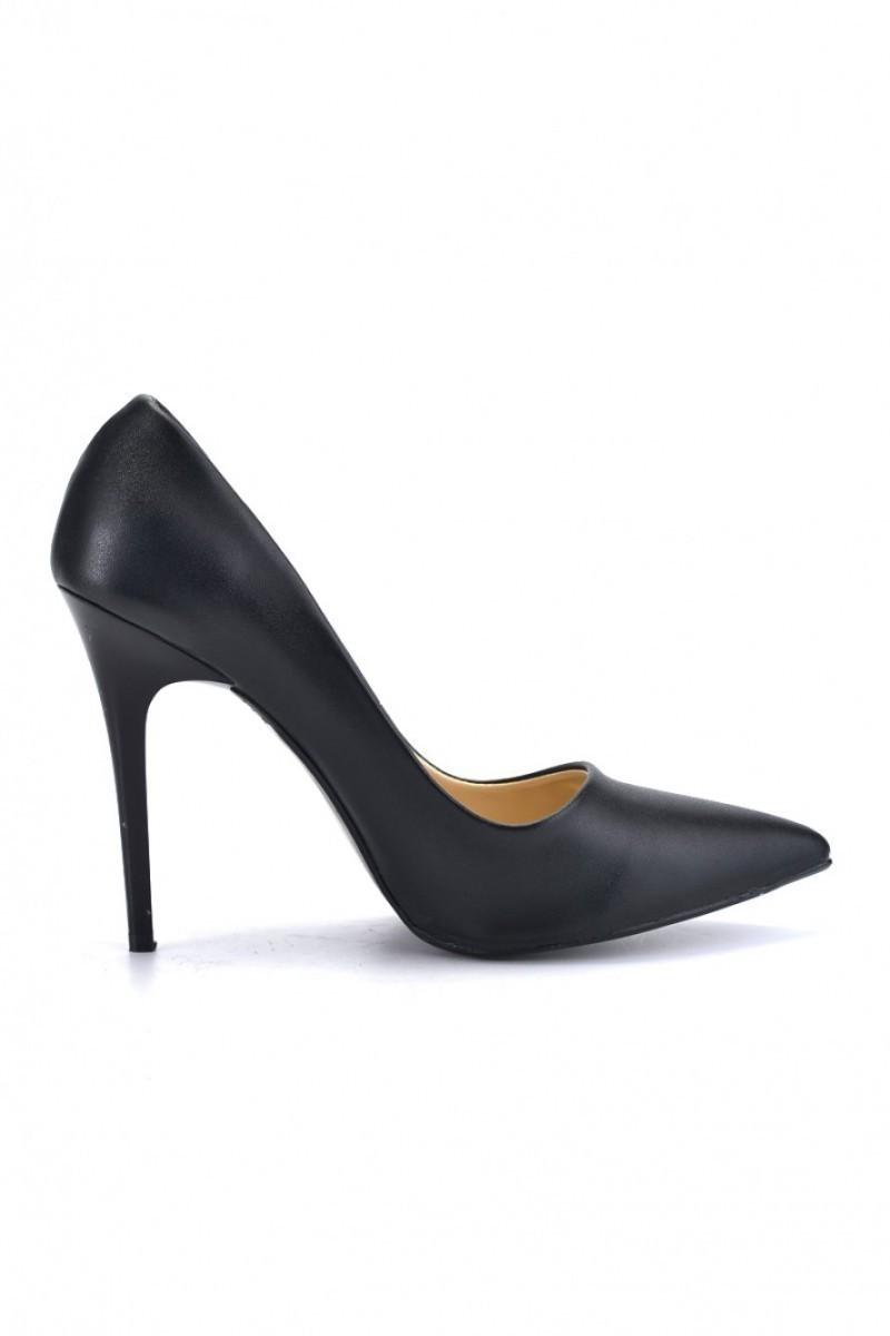 Moda Vindy Siyah MVD-STLT-009 Stiletto Topuklu Bayan Ayakkabı