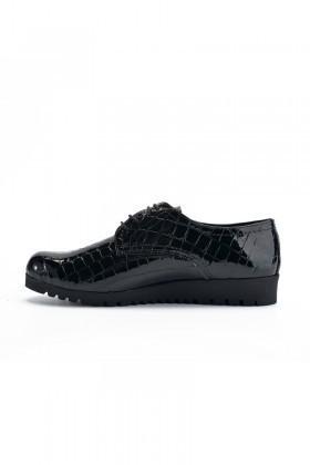 Maestracci Siyah MCC-501-CROCO Hakiki Deri Bayan Ayakkabı