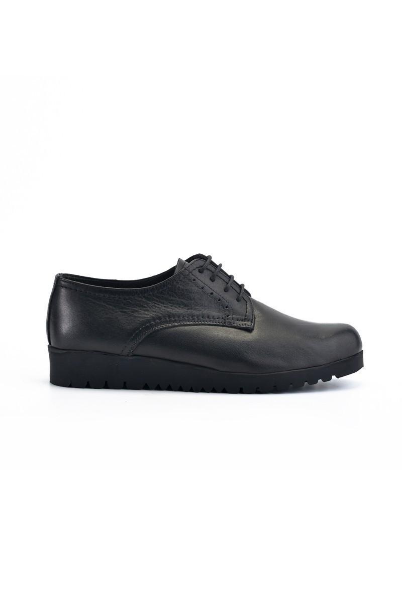 Maestracci Siyah MCC-501-DERI Hakiki Deri Bayan Ayakkabı