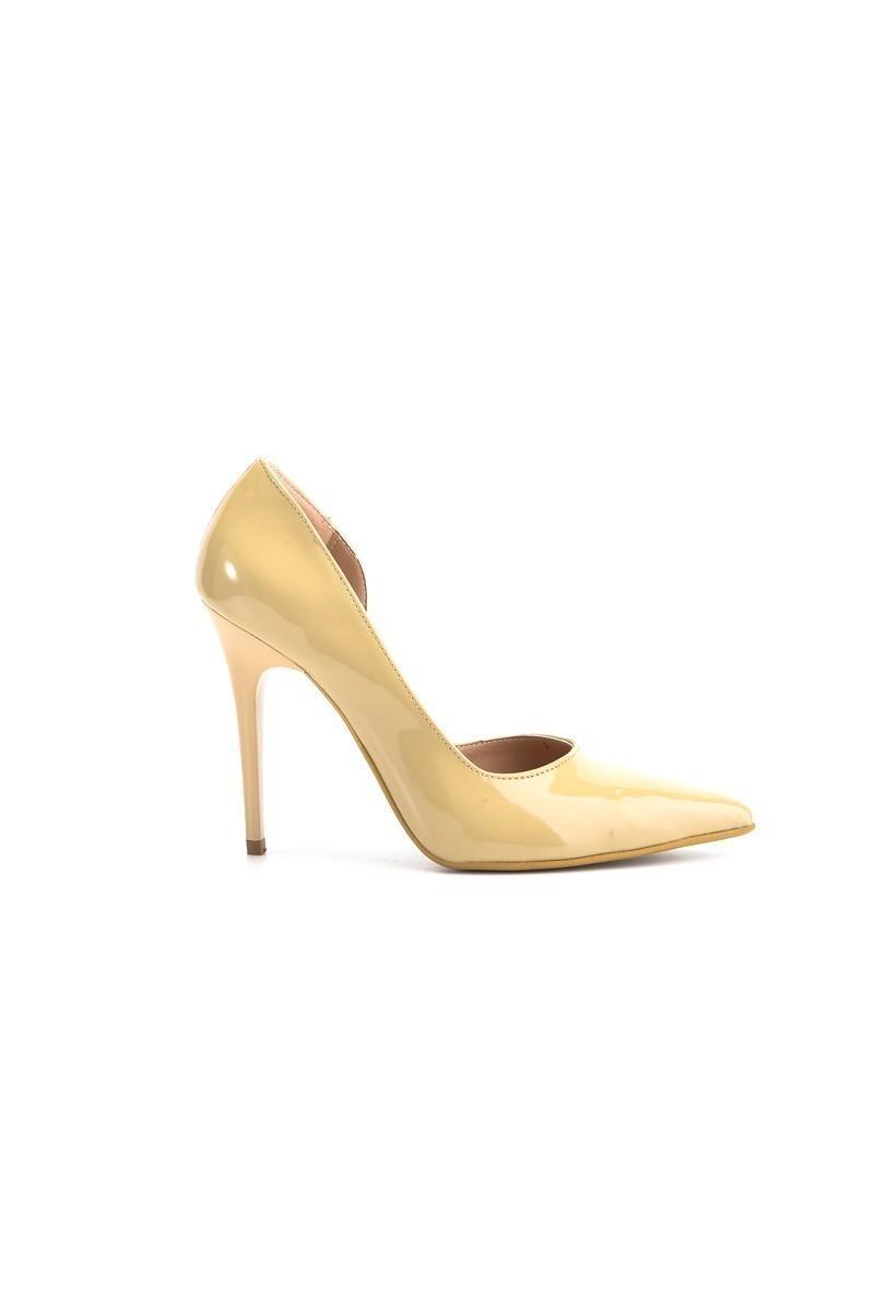 Moda Vindy Bej MVD-STLT-810 Stiletto Topuklu Bayan Ayakkabı
