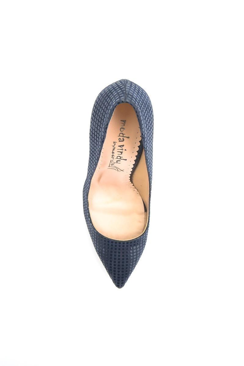 Moda Vindy Lacivert MVD-STLT-650 Stiletto Topuklu Bayan Ayakkabı