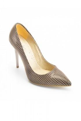 Moda Vindy Vizon MVD-STLT-650 Stiletto Topuklu Bayan Ayakkabı