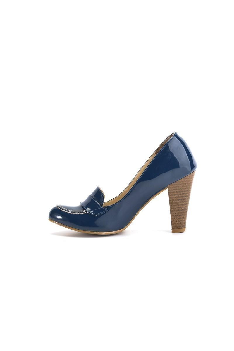 Moda Vindy Lacivert MVD-PLT-2330 Klasik Topuk Bayan Ayakkabı