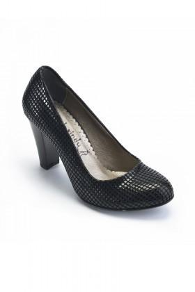 Moda Vindy Siyah MVD-PLT-2010 Klasik Topuk Bayan Ayakkabı