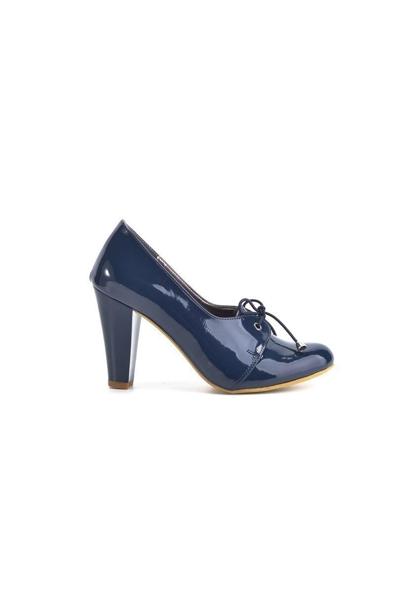 Moda Vindy Lacivert MVD-PLT-1855 Klasik Topuk Bayan Ayakkabı