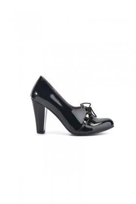 Moda Vindy Siyah MVD-PLT-1855 Klasik Topuk Bayan Ayakkabı