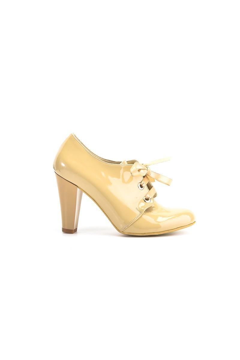 Moda Vindy Bej MVD-KLSK-1818 Klasik Topuk Bayan Ayakkabı
