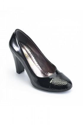 Moda Vindy Siyah MVD-PLT-1735 Klasik Topuk Bayan Ayakkabı