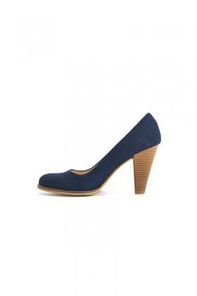 Moda Vindy Lacivert MVD-PLT-1720-LACI Klasik Topuk Bayan Ayakkabı