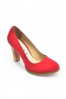 b3682195cdd53 Moda Vindy Kırmızı MVD-PLT-1720 Klasik Topuk Bayan Ayakkabı