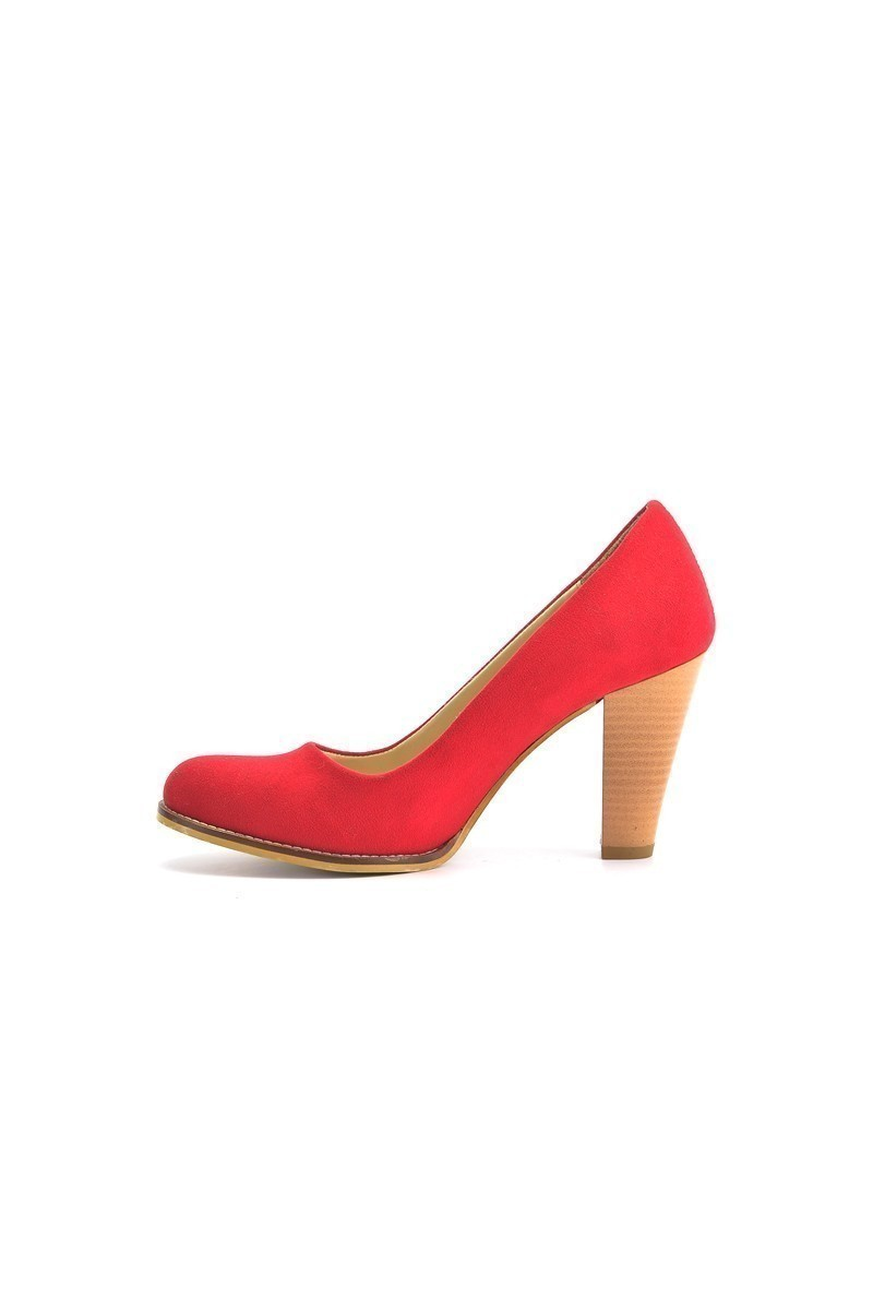 Moda Vindy Kırmızı MVD-PLT-1720 Klasik Topuk Bayan Ayakkabı