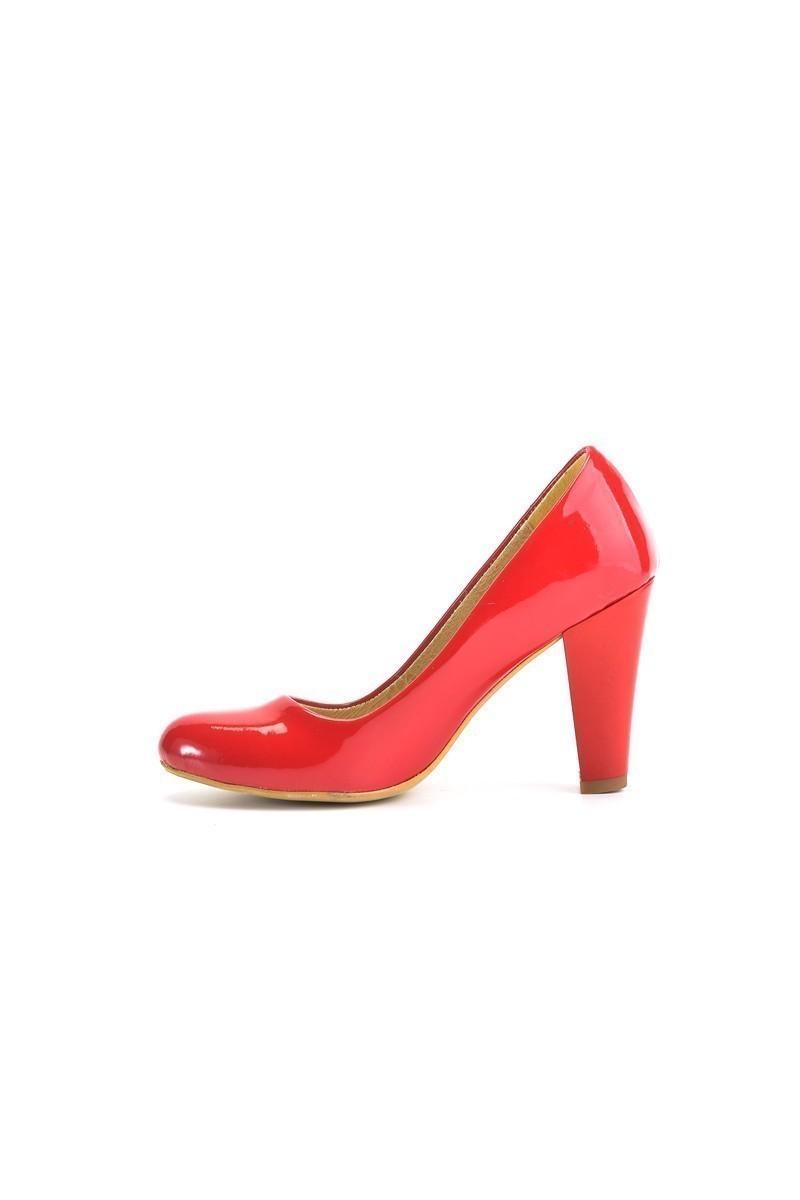 Moda Vindy Kırmızı MVD-PLT-1690 Klasik Topuk Bayan Ayakkabı