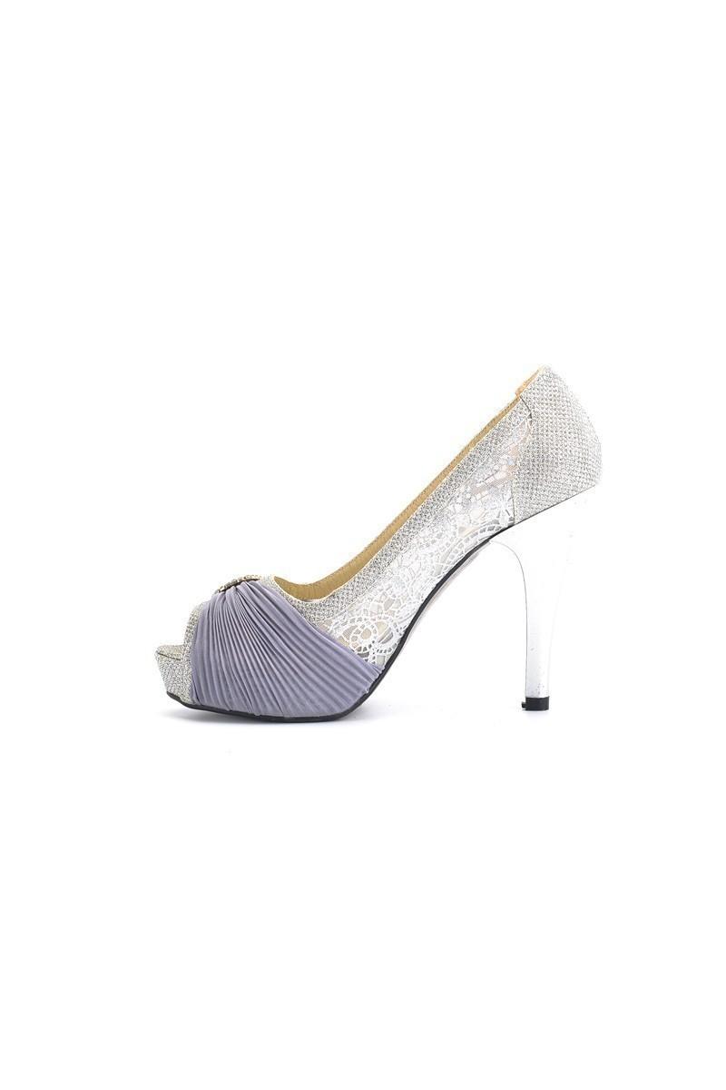 Moda Vindy Gümüş Rengi MVD-PLT-1505 Platform Topuk Bayan Ayakkabı