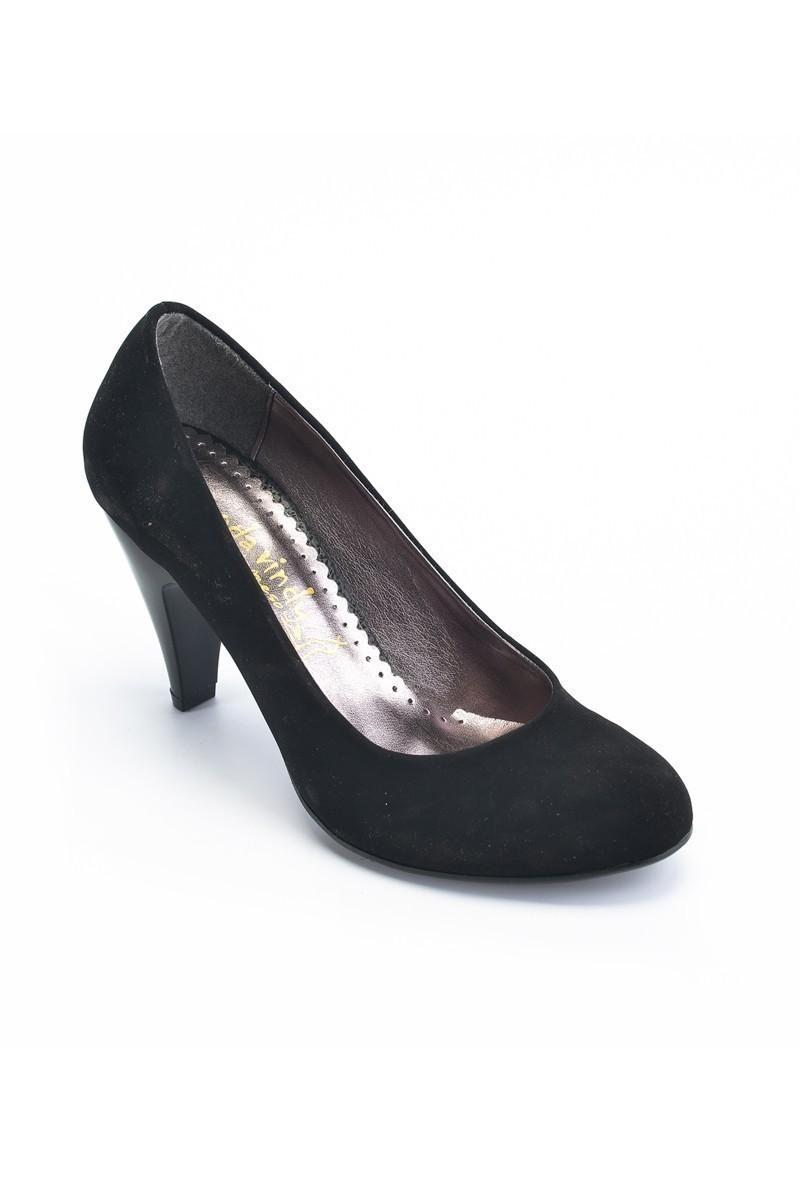 Moda Vindy Siyah MVD-PLT-1415 Klasik Topuk Bayan Ayakkabı