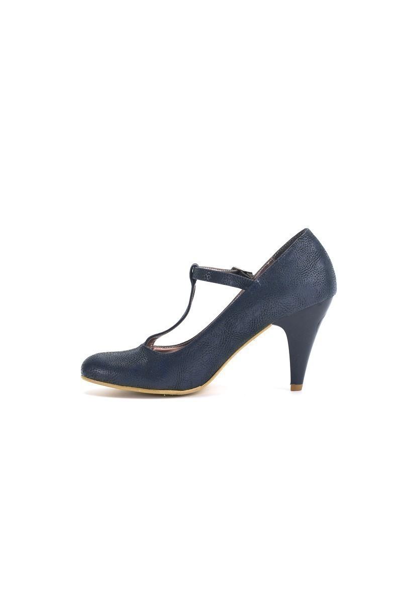 Moda Vindy Lacivert MVD-PLT-1350 Klasik Topuk Bayan Ayakkabı